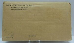1955 US Proof Set - Original Brown Envelope - United States Treasury Dept. G304