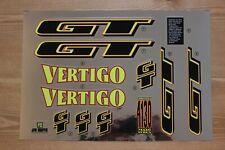 Reproduction 1995 GT Vertigo BMX Decal Set - Chrome Backing
