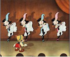 Pinocchio Can Can Dancers Production Cel Courvoisier Setup (1940 Disney)