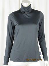 LANDS' END SZ S NWOT Polyester/Spandex Black Turtle Neck Top Blouse Tee Shirt
