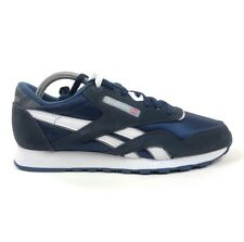 Reebok CL Nylon Classic Team Navy Blue Platinum Mens 9.5 Shoes Sneakers 39749