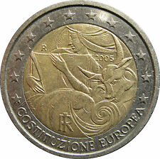 ---   2 EURO COMMÉMORATIVE ITALIE 2005 - CONSTITUTION EUROPEENNE  ---