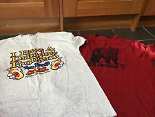 FUNNY I HAVE A DRINKING PROBLEM TOP & GRIN & GEORGE BEAR IT RED TOP SIZE XL