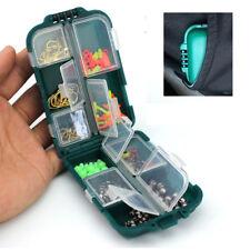 Full Loaded Plastic Fishing Tackle Box Storage Case with Hook Swivels Sinker #ur
