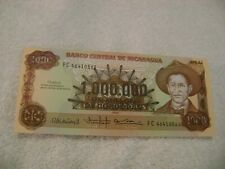NICARAGUA-(-1985-)-500000,1 MILLION CORDOBAS-UNCIRCULATED-Lot of 2 BanknoteS