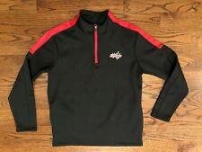 Washington Capitals Hockey NHL Black 1/4 Zip Pullover Jacket Top Men's Medium