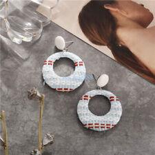 Hot Women Lady Weaving Rattan Dangle Drop Earring Ear Stud Wedding Jewelry Gift