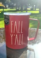 Rae Dunn Fall By Magenta FALL Y'ALL  Stainless Steel Insulated Mug Brick Red