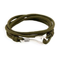 Fashion Women Multilayer Nautical Rope Cord Anchors Hook Nylon Wrap Bracelet