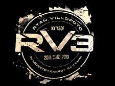 "MONSTER ENERGY 5X CHAMP 2011,12,13 Kawasaki RYAN VILLOPOTO KX""450F RV3 T-shirt L"
