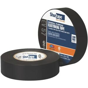 "Shurtape - General Purpose Grade, UL Listed, Black Electrical Tape (3/4"" x 66')"