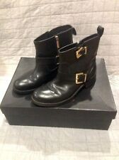 WOMENS MIMCO BOOTS BLACK SZ 38 ANKLE stud 54 style HIGH RRP $299