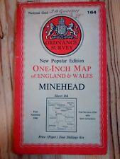 Ordnance Survey One Inch Sheet 164  Minehead  1946