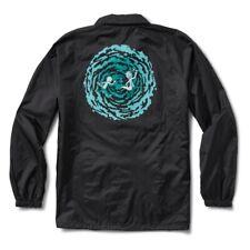 Primitive X Rick and Morty Portal Coach Windbreaker Jacket Black Medium