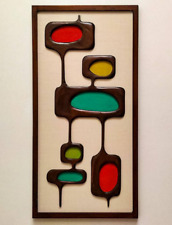 Mid Century Modern Wall Sculpture - 1960s Atomic Design