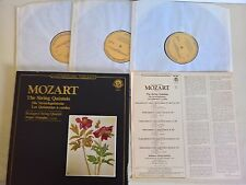 BOX 3 LP - MOZART - THE STRING QUINTETS - WALTER TRAMPLER - CBS MASTERWORKS - MM