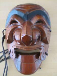 Carved wooden mask - Korean?