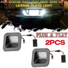 2x LED License Plate Light Lamp Smoked Lens For 03-18 Dodge Ram 1500 2500 3500