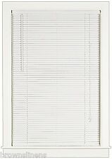 "White 1"" Vanes Vinyl Mini Blind - 36"" Wide x 72"" Long Blinds"