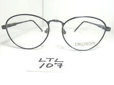 Vtg Nos 80s/90s EXPLOREFLEX 2293 Round Eyeglass Frame Navy Blue Col.32 (LTL-107)