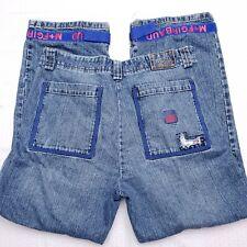 VTG Marithe Girbaud Mens 36x32 Blue Shuttle Tape Cargo Jeans Pants Hip Hop A89
