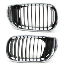 Fit For BMW E46 02-05 3 Series Base 4Dr Front Grille Kidney Half Chrome Durable