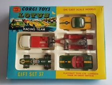 Corgi Toys Gift Set No. 37, Lotus Racing Team Gift Set, - Superb V. V. Near Mint