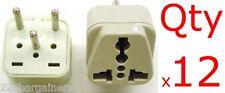 Plug Adapter - 12PK Israel Plug Adapter Universal Output Socket 3 Prong Adapter