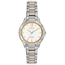 Citizen Eco-Drive Women's Diamond Accents Two-Tone 30mm Watch EM0454-52A