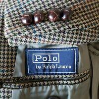 Polo Ralph Lauren Mens Hopsack Tweed Sport Coat Blazer Houndstooth Sz 40R EUC