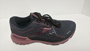 Brooks Adrenaline GTS 21 Running Shoes, Black/Purple, Women's 9.5 Wide