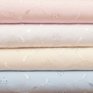 Broderie Anglais 3 Hole embroidery fabric Excellent quality by the metre  NEW