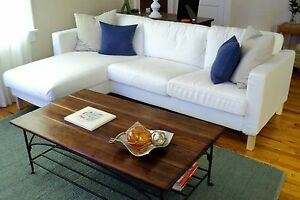 "IKEA Karlstad NEW 2 Seat Loveseat Sofa CHAISE Lounge Blekinge White""3 Seat""COVER"