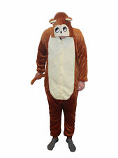 Flannel Kostüm Affe Damen Herren Kinder Karnevalskostüm Faschingskostüm XL