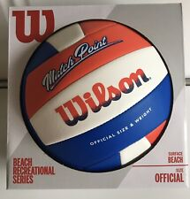 Wilson Match Point Beach Volleyball Recreational Series Red/White/Blue