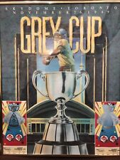 Framed 1989 Grey Cup Print Skydome Toronto With Tickets