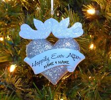 Wedding Couple Happy Ever After - First Personalized Christmas Wedding Ornament