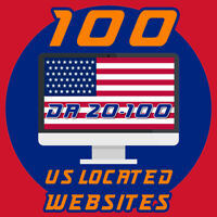 PREMIUM PACKAGE - 100 USA backlinks high domain authority Backlins DA 20-100