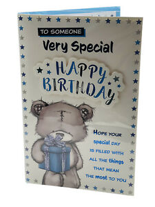 HAPPY BIRTHDAY SOMEONE SPECIAL/ESPECIALLY FOR YOU  CARD  ****  VERY LARGE  ***