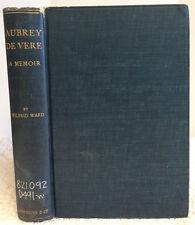 AUBREY DE VERE By Wilfrid Ward- 1904 Biography, Correspondence, Irish poet