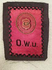 Vtg 1910 O.W.U. Ohio Wesleyan University Egyptienne Luxury Tobacco Silk Nice