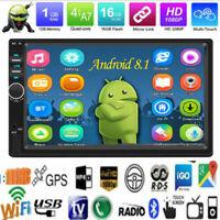4-Core 7'' 2DIN Android 8.1 Coche Estéreo MP5 Reproductor GPS WiFi BT FM Radio