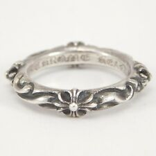 1998 CHROME HEARTS CROSS MOTIF ETERNITY BAND AUTHENTIC SIZE 9.5