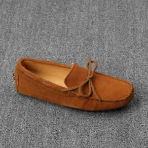 Casual Men's Bowtie Loafers Gommino Moccasins Suede Driving Slip On Boat Shoes