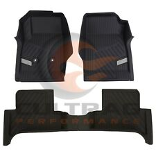 2015-2018 Colorado Extended Cab GM Front & Rear All Weather Floor Liners Black
