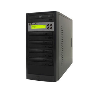 1-4 24X Burner CD DVD Duplicator Multiple Media Disc Drive Copier