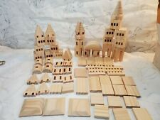 {43 Pieces} Wooden Pine Castle Building Blocks for Kids Boys, and Girls COOL!