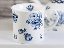 Katie Alice Vintage Indigo Floral Tankard Mug Porcelain Blue