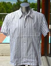 HUGO BOSS camisa blanca satinado de manga corta T 43/44 XL EXCELENTE ESTADO