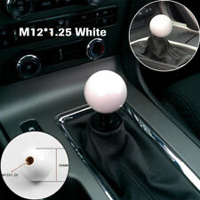 1PC Car Thread Shift Knob Ball Short Throw Shifter Lever Knob M12*1.25 White